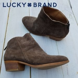 Lucky Brand Breena suede ankle boots